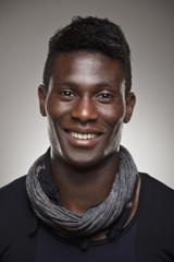 Portrait of a normal black man smiling