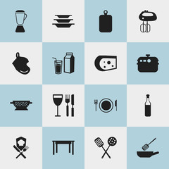 Set Of 16 Editable Restaurant Icons. Includes Symbols Such As Drainer, Tableware, Dishes And More. Can Be Used For Web, Mobile, UI And Infographic Design.