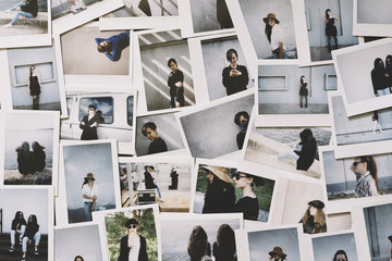 Instant photos on the desk