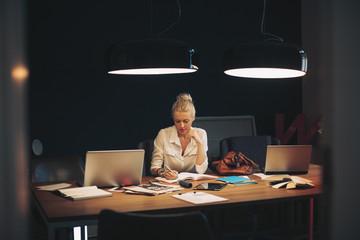 Blonde Businesswoman at Work