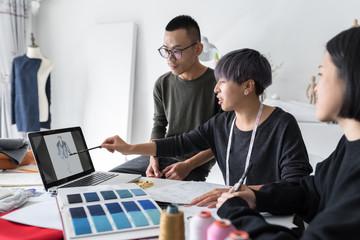 Design professional working in studio