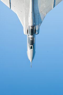 Fighter jet with blue sky in background