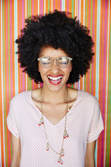 Portrait of beautiful African American woman laughing