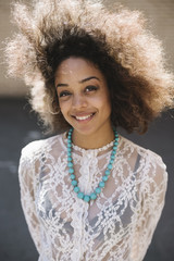 Beautiful happy black woman portrait