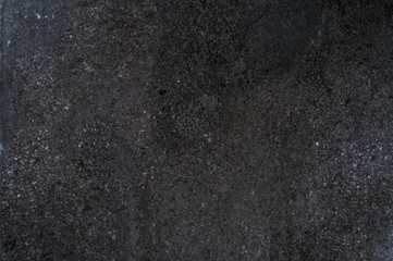 Dark black gray stone background. Table. Negative space, copy space top view