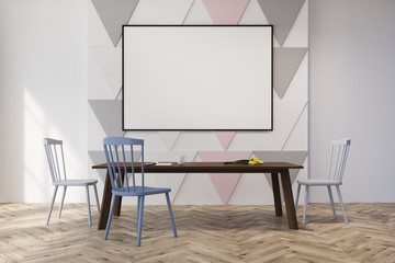 Triangle pattern dining room or office, pastel