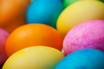 Easter Vibrantly Colored Easter Eggs