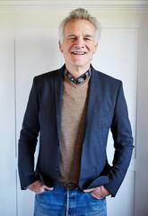 Portrait of senior man in suit jacket