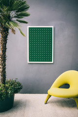 Green Painting as a Living Room Design Detail