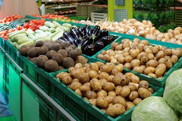 Vegetables in a supermarket