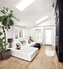 Modern design farmhouse living room