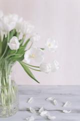 tulips bouquet in closeup