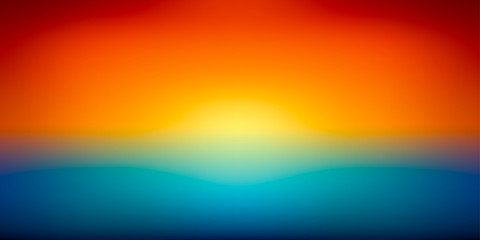 Abstract vector mesh background, color gradient, orange and blu, smooth sunset, vector wallpaper