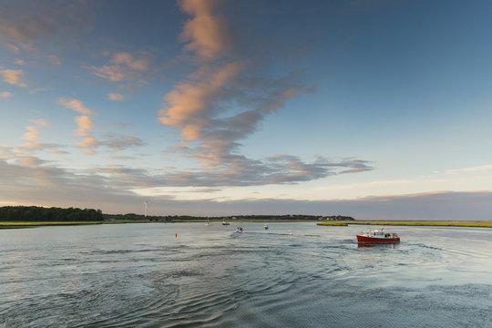 Sunset On North River Marshfield, Massachusetts
