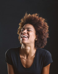 Portrait of a smiling African American woman