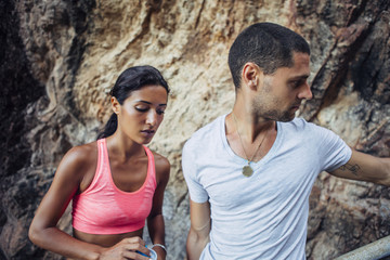 Fit Couple Outdoors