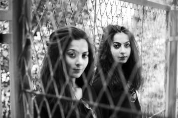 portrait of young women, selective focus