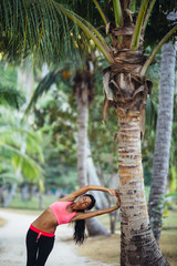 Woman Stretching After a Workout