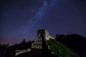 the great wall of china with galaxy