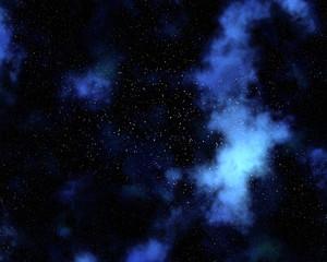 Night sky background with nebula