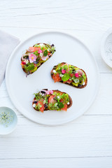 Avacado Toast with edible flowers