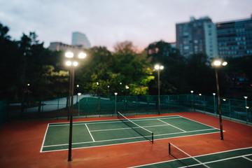 Tennis court outdoors