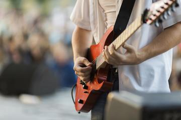 hands of guitarist