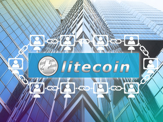 Concept of  Litecoin.  a cryptographically secured chain . Digital money