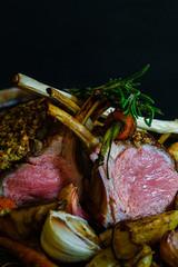 Herb crust rack of lamb