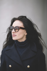 Trendy woman with sunglasses
