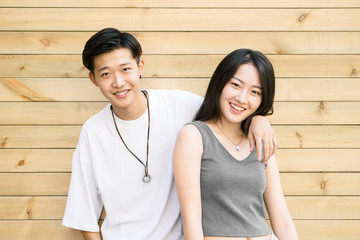 Portrait of two young Chinese teenager