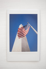 Obelisk and American Flag in Washington DC