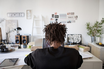 African Businessman Working at His Office