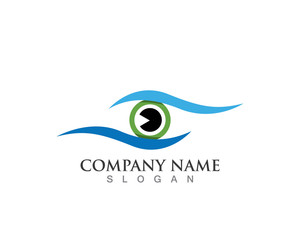 Eyes care Logo Template and vector