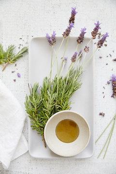 Fresh lavender spa treatment
