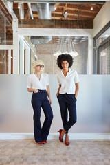 Portrait of millennial businesswomen in office