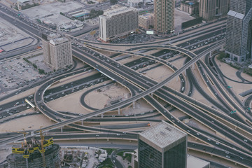 Aerial Photo of Dubai Highway Interchange