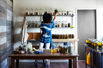 Millennial African American Woman Maker in Her Studio
