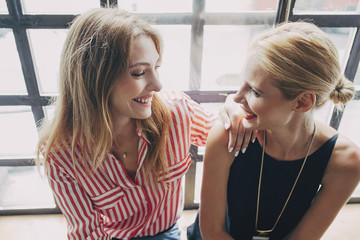 Beautiful Women Looking at Each Other