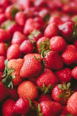 red fresh organic strawberries