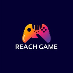 Modern Reach Game Logo template designs wit arrow symbol