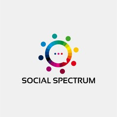 Social Spectrum logo template vector illustration