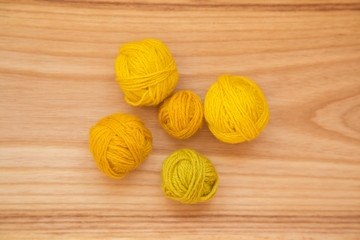 A beautiful yarn balls in vibrant colorful tones