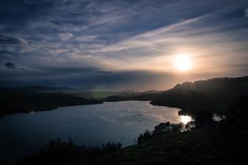 Sunset in San Vicente de la Barquera, Cantabria, Spain