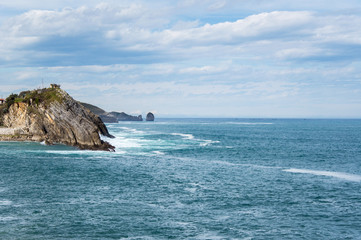 Idyllic panorama view of cliffs in Asturias, Camino de Santiago, Spain