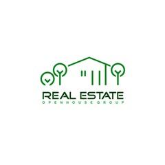 Real Estate logo design template. Corporate branding identity.