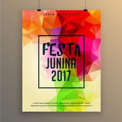 festa junina poster template design for brazil festival