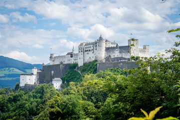 Old town of Salzburg, Austria on a day in summer