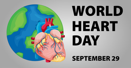 Poster design for world heart day