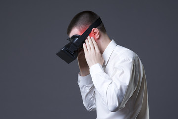 Vr pain, headache and migraine after uses virtual reality glasses
